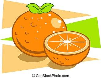 Oranges - Orange fruit design