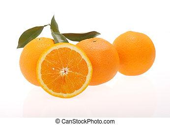 oranges, frais