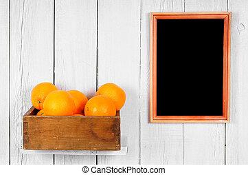 Oranges in a box