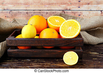 oranges in a drawer