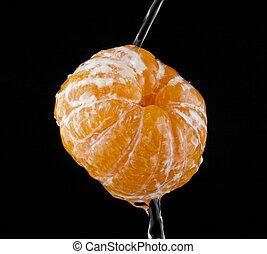 oranges in drops of water