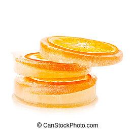 oranges in ice