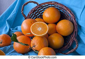 oranges in the basket