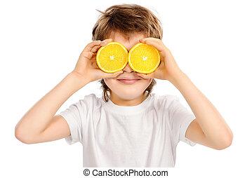 oranges like eyes