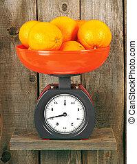 Oranges on scales