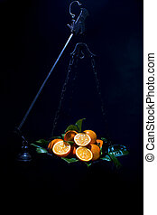 Oranges on scales