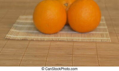 Oranges on the Table in Kitchen