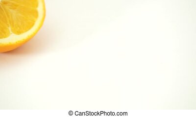 Oranges on white background - citrus fruit isolated on white...