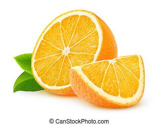 Oranges - Cut oranges isolated on white