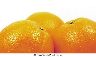 Oranges Rotating Closeup