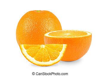 oranges - fruits oranges on a white background