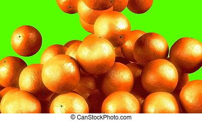 Oranges transition effect