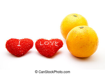 Oranges with heart