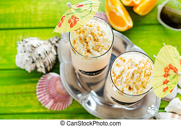 Orangesicle cold drink - Gourmet cold orangesicle chocolate...