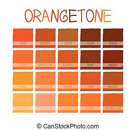 orangetone, barva odstínovat