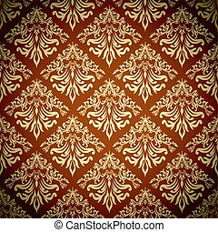 orangey repeat - Seamless repeating design in orange and...