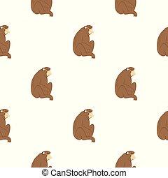 Orangutan monkey pattern seamless