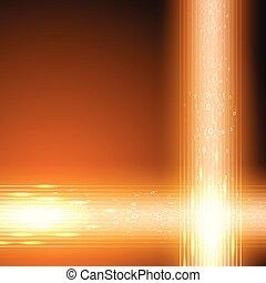 oranje achtergrond, met, stroom, van, binaire code