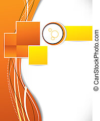 oranje cirkelen, pleinen, achtergrond