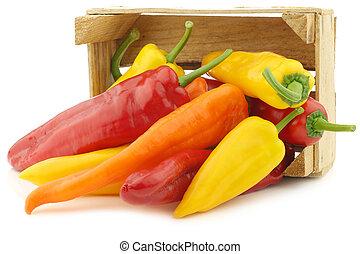 oranje peper, rood, zoet