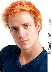 oranjekleurig haar, voer schot aan