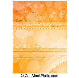 oranjekleurig licht, achtergrond