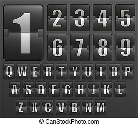 orario, alfabeto