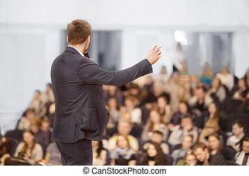 orateur, à, convention affaires