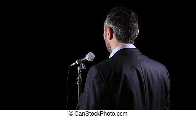 orateur, microphone