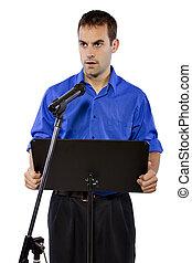 orateur, public