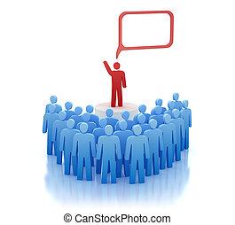 Orator on tribune - speech - Orator on tribune - speaks in...