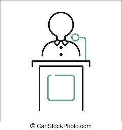 Orator speaks vector. - Orator speaks with broad gestures...