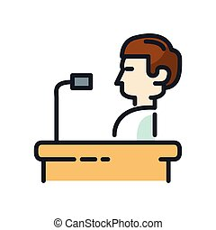 orator speech icon color