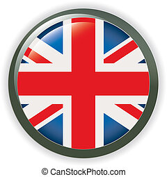 Orb UK Flag button illustration 3D