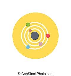 orbit  flat color icon