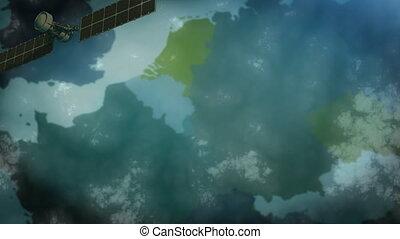 orbit., la terre, satellite