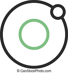 Orbit, solar, earth icon vector image.Can also be used for...