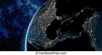 orbitaal, aarde, aanzicht, ruimte