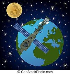 orbital, station-2, satélite