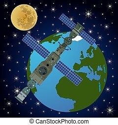 orbital, station-3, satellite