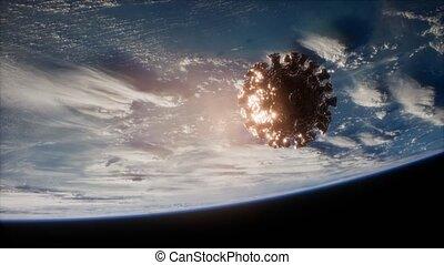 orbite, coronavirus, la terre, covid-19