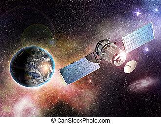 orbiter, la terre