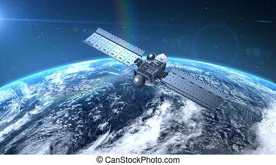 orbiter, la terre, satellite