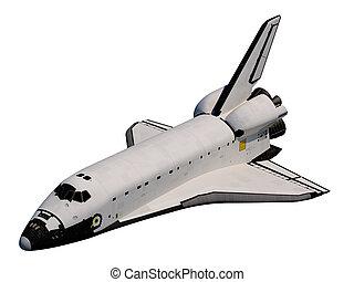 orbiter, shuttle., espace