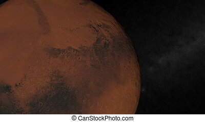 Orbiting Mars. Loop. CG. hd