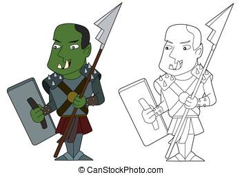 Orc warrior cartoon