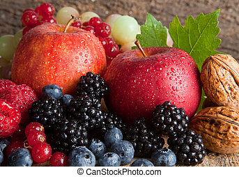 Orchard harvest - Still life for thanksgiving with autumn...