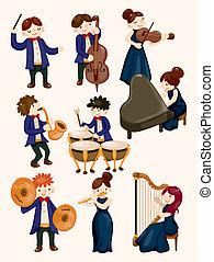 orchestr, hudba hráč