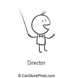 orchestra, dirigere, conduttore