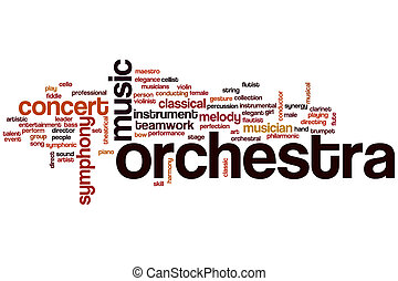 Orchestra word cloud